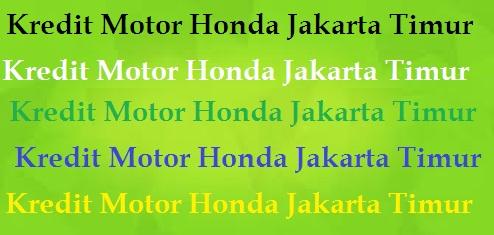 Dealer Motor Honda Jakarta Timur