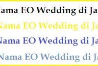 Nama-Nama EO Wedding di Jakarta